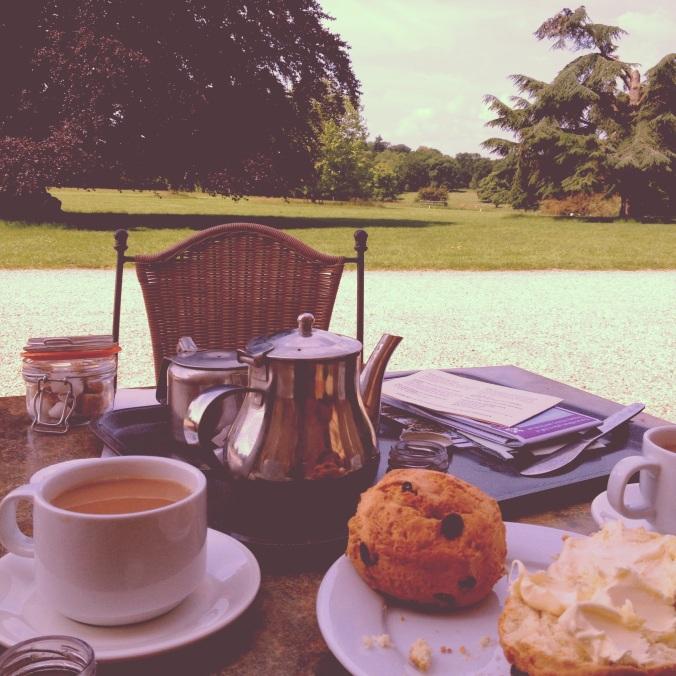 Cream tea at Basildon Park